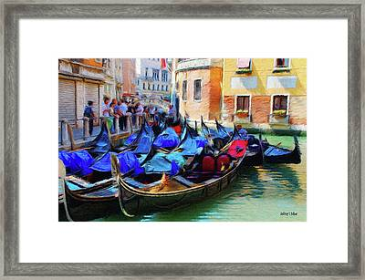 Gondolas Framed Print by Jeff Kolker