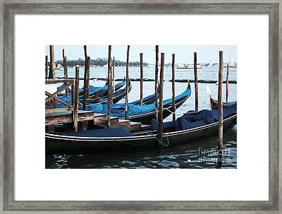 Gondolas Framed Print by John Rizzuto
