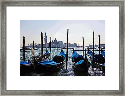 Gondolas Of Venice Framed Print by Alison Tomich