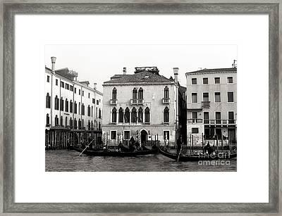 Gondolas On The Grand Canal 2015 Framed Print