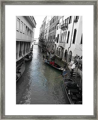 Framed Print featuring the photograph Gondolier by Laurel Best