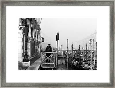 Gondolier Watch Framed Print by John Rizzuto