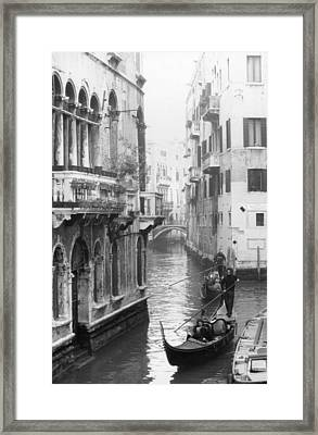Gondoliers In Venice Framed Print by Dorothy Berry-Lound