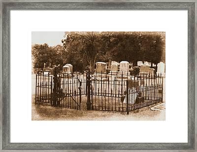Gone But Not Forgotten Framed Print