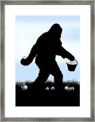 Gone Easter Squatchin Framed Print by Gravityx9  Designs
