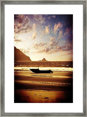 Ocean Framed Print featuring the photograph Gone Fishin' by Aaron Berg