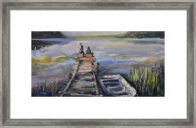 Gone Fishin' Framed Print by Donna Tuten