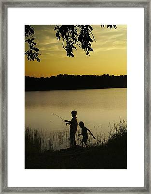 Gone Fishin' Framed Print by Mary Ely
