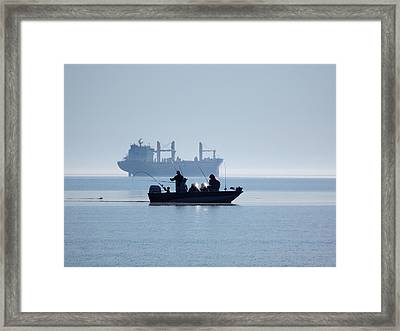 Gone Fishing Framed Print by Alison Gimpel