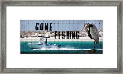 Gone Fishing Framed Print by Henry Kowalski