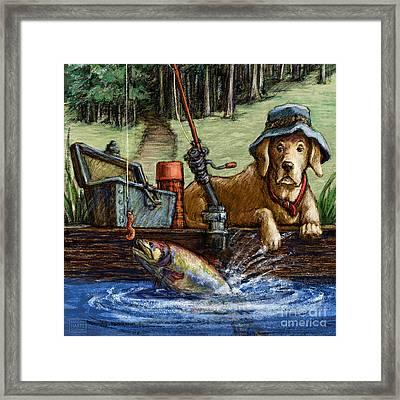 Gone Fishing Framed Print by Kathleen Harte Gilsenan