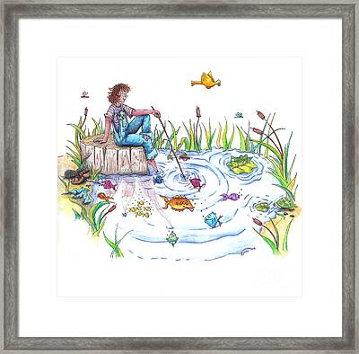 Gone Fishing Framed Print by Kelly Walston