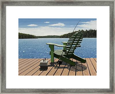 Gone Fishing Aka Fishing Chair Framed Print