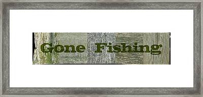 Gone Fishing Framed Print by Michelle Calkins