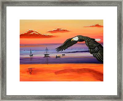 Gone Fishing Framed Print by Pamorama Jones