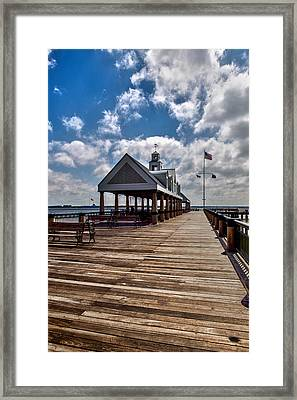 Framed Print featuring the photograph Gone Fishing by Sennie Pierson