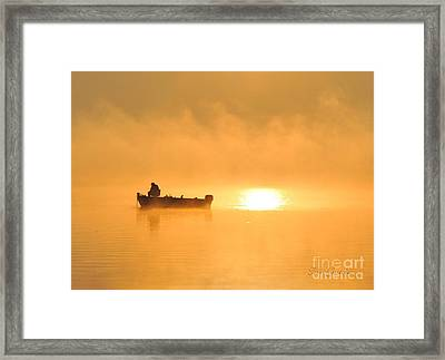 Framed Print featuring the photograph Gone Fishing by Terri Gostola
