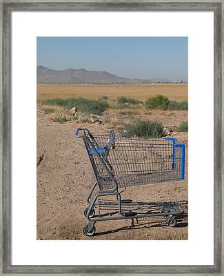 Gone Shopping Framed Print by Sanda Kateley