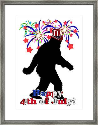 Gone Squatchin - 4th Of July Framed Print by Gravityx9  Designs