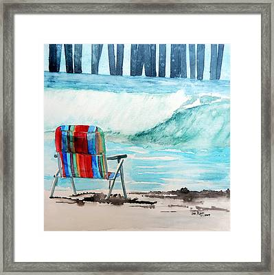 Framed Print featuring the painting Gone Swimmin' by Tom Riggs
