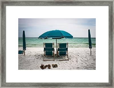 Gone Swimming Framed Print