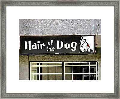 Framed Print featuring the photograph Gone To The Dogs by Ethna Gillespie