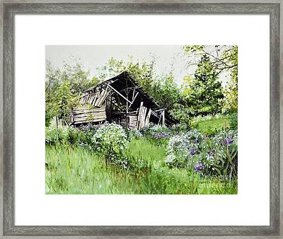 Where The Wildflowers Bloom Framed Print