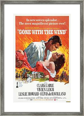 Gone With The Wind - 1939 Framed Print by Georgia Fowler