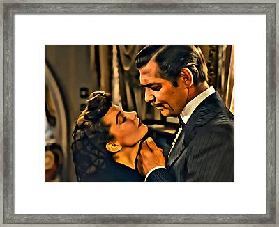 Gone With The Wind Framed Print by Florian Rodarte