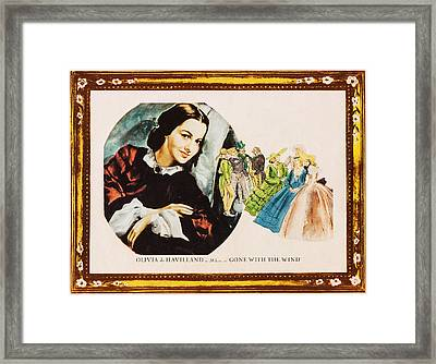 Gone With The Wind, Olivia De Havilland Framed Print by Everett