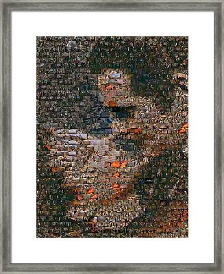 Gone With The Wind Scene Mosaic Framed Print