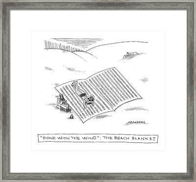Gone With The Wind: The Beach Blanket Framed Print