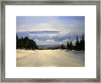 Gonna Snow Again Framed Print by Ken Ahlering