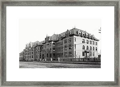 Gonzaga College Spokane 1900 Framed Print by Daniel Hagerman