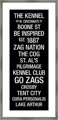 Gonzaga College Town Wall Art Framed Print by Replay Photos