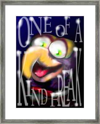 Gonzo - One-of-a-kind-freak Framed Print