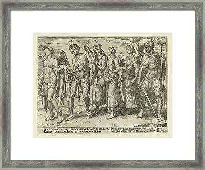 Good And Bad Ways To Get Rich, Philips Galle Framed Print by Philips Galle And Hadrianus Junius
