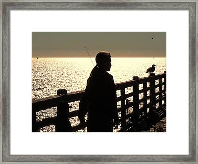 Good And Quiet Framed Print by Brian D Meredith
