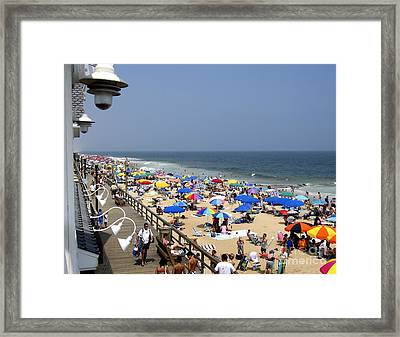 Good Beach Day At Bethany Beach In Delaware Framed Print
