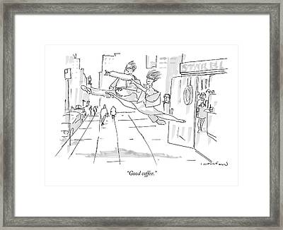 Good Coffee Framed Print by Michael Crawford