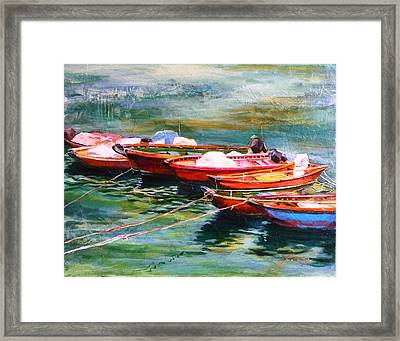 Good Companions Framed Print by Betty M M   Wong
