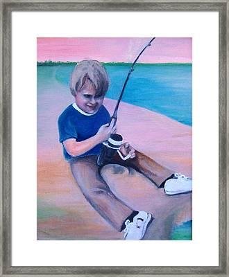 Good Day Fishing Framed Print by Martha Suhocke