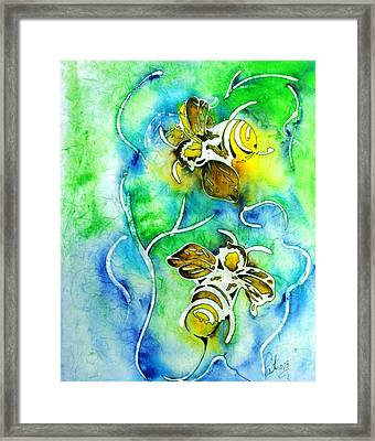Good Day To Be A Bee Framed Print by Pat Purdy