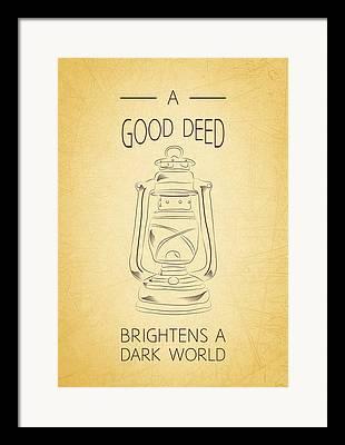 Good Deeds Digital Art Framed Prints