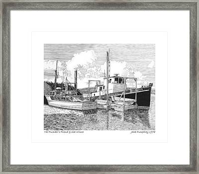 Plumbers Friend And Sea Winch Framed Print by Jack Pumphrey