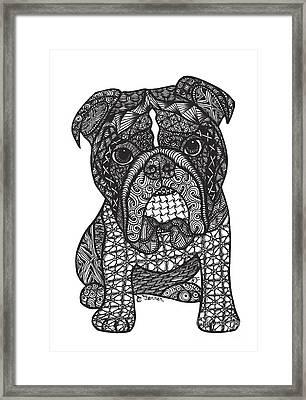 Good Dog - English Bulldog Framed Print