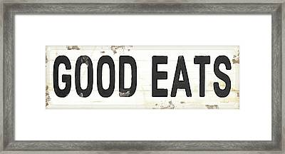 Good Eats Framed Print