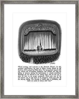 Good Evening Framed Print by Henry Martin