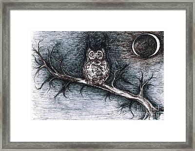 Strange Night Owl Framed Print by Teresa White
