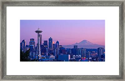 Good Evening Seattle Framed Print